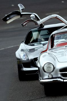Mercedes-Benz 300SL Gullwing and SLS AMG