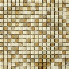 "Stone Mart USA's 5/8""x5/8"" Marble Mix Mosaic Tumbled Tile"