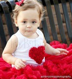 Fluffy Heart Petti Top