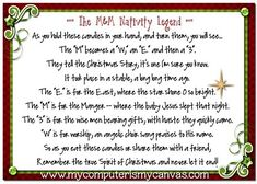 M&M Nativity Story - fun, fast Christmas gift to share with friends, neighbors, scouts