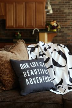 Did you know you can personalize throw pillows and blankets from Shutterfly? Love they put all their zipcodes on the throw! #ShutterflyHomeDecor #ad