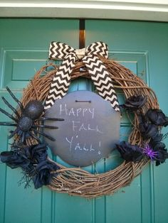 Castle DIY - How To: Fall Wreath - making a fall wreath cheaply and with just a few items!