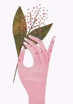Barbara Dziadosz Illustration - Have a happy first advent 🕯 Hands Holding Flowers, Hand Flowers, Heart Illustration, Digital Illustration, Visual Map, Hand Art, Arte Floral, Animal Drawings, Flower Art