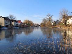 first frozen river we've seen