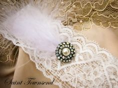 Ivory Lace Wedding Garter Couture Inspired