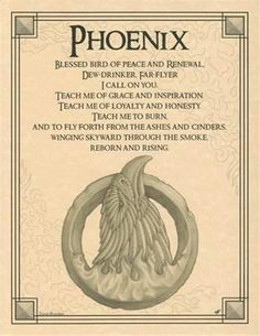 Phoenix Evocation Parchment Book of Shadows Page or Poster! in Collectibles | eBay