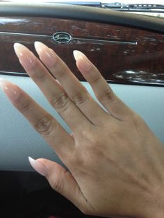 """Not a huge """"stiletto nails"""" fan but these Nude stiletto nails are HOT!"""