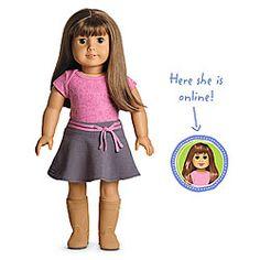 American Girl® Dolls: Light skin, brown hair with bangs, brown eyes  This is my Sierra:0)