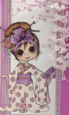 Cherry Blossom Bestie close-up by Elaine Wheeler‎... (pinned from Facebook) Whimsy Stamps, Digi Stamps, Cute Images, Cute Pictures, Cute Kids Pics, Teddy Bear Pictures, Beautiful Fairies, Owl Art, Cartoon Pics