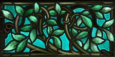 Green Leaves Stained Glass Window.