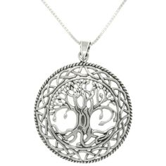 Carolina Glamour Collection Silver Celtic Tree of Life Necklace - Overstock™ Shopping - Top Rated Carolina Glamour Collection Sterling Silver Necklaces