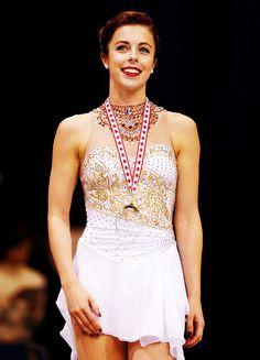 Ashley Wagner, gold medalist, Skate Canada 2015