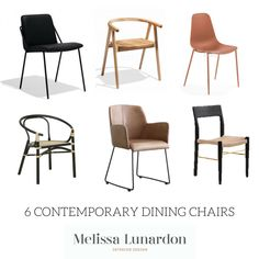 Melissa Lunardon shares her fave contemporary dining chairs that create impact! Contemporary Dining Chairs, Kitchens, Create, Furniture, Home Decor, Decoration Home, Room Decor, Kitchen, Home Furnishings