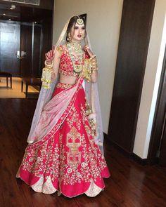 Made to measure handcrafted ethnic red personalised bridal wedding lehenga sfi lehenga. Oli and dupatta scarf. Work this is a bridal lehenga with se Indian Bridal Outfits, Indian Bridal Lehenga, Indian Bridal Fashion, Indian Bridal Wear, Indian Designer Outfits, Indian Dresses, Bridal Dresses, Indian Wear, Indian Attire