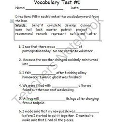 Printables Wordly Wise Worksheets pinterest the worlds catalog of ideas 4th grade wordly wise vocabulary tests product from teaching with style on teachersnotebook com