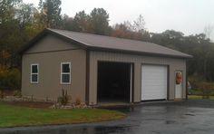 Pole Barn Shop, Pole Barn Garage, Boat Garage, Carport Garage, Garage Plans, Shed Plans, Pole Barns, Garage Shop, Garage Ideas