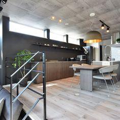 Room Decor Bedroom, Living Room Decor, Kitchen Interior, Kitchen Design, Earth Sheltered Homes, Sunken Living Room, Cozy Cafe, Kitchen Living, Cool Kitchens