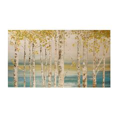 PURCHASED!! Birch Lake Canvas Art Print   Kirklands