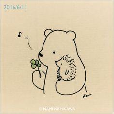 Pinzellades al món: Il·lustracions de Nami Nishikawa: oda a l'amistat Hedgehog Art, Hedgehog Drawing, Cute Hedgehog, Hedgehog Illustration, Illustration Art, Animal Drawings, Cute Drawings, Illustrations, Rock Art