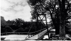 "The old ""swing bridge"" between Fairfield Maine  and Mill Island - circa 1900"