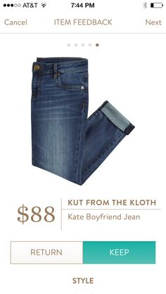 Stitch Fix Stylist:  Please send me boyfriend jeans in my next fix.  I have a few pairs pinned to this board.  Thanks, Louisa