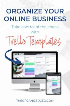 Organize your entire business with these free Trello templates. The 3 boards include the biz dashboard, productivity planner, and system and processes. Great for entrepreneurs, bloggers, coaches, consultants, VAs, service providers, and product creators. If you're an online entrepreneur, you need these Trello boards! Small Business Software, Business Templates, Online Business, Trello Templates, Small Business Organization, Online Entrepreneur, Organize, Marketing, Amazing