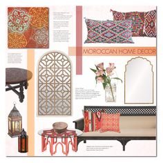 """Morocco Diaries ~ Marrakech Decor"" by alexandrazeres on Polyvore featuring interior, interiors, interior design, home, home decor, interior decorating, Courtside Market, Moroccan Prestige, Mirror Image Home and Cultural Intrigue"