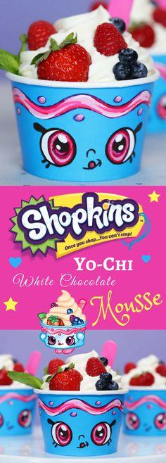 Shopkins Yo-Chi White Chocolate Yogurt Mousse Recipe