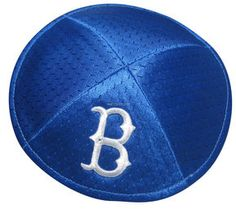 Brooklyn Dodgers Pro-Kippah  Pro-Kippah Officially Licensed by Major League Baseball Polyester mesh with cotton lining. Outside Color: Royal Blue. Price: $21.99 For more info visit http://www.yarmulkes.com/system/scripts/results_big.cgi?product=PKDodgers
