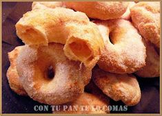 Mexican Food Recipes, Snack Recipes, Snacks, Beignets, Flavored Ice Cubes, Spanish Desserts, Sweet Dough, Peruvian Recipes, Pan Dulce