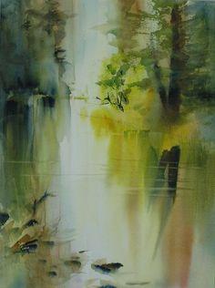 Yosemite River watercolor