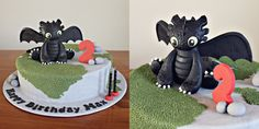 How to Train Your Dragon Toothless Cake 2