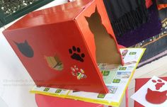 Kitty DIY Project: Pretty Red Cat Box | The Mad Cat Lady