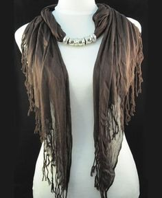 Silver Pendant Necklace Fringed Scarf Slide Wholesale -  cheap wholesale pendant scarves from www.jewelryscarfcanada.com