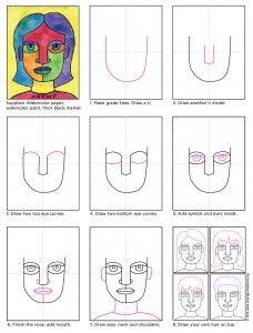 Art Projects for Kids: Draw an Abstract Self-Portrait via ElementarySchoolBlogs