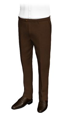 These custom pants are made of a in thick lines woven fabric, which remind us of a plowed field. The perfect outfit for cold weather. In addition, their honey-colored buttons add a classy touch. Fall Pants, Corduroy Pants, Tweed Pants, Formal Pants, Slim Fit Chinos, Tailored Trousers, Linen Pants, Mens Suits, Custom Shirts
