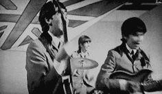 Cute Paul McCartney, Ringo Starr and George Harrison.