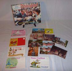 Lot 16 Pcs Vtg #WaltDisney 1968 #Disneyland Guide Postcards Scene Books Flip Book