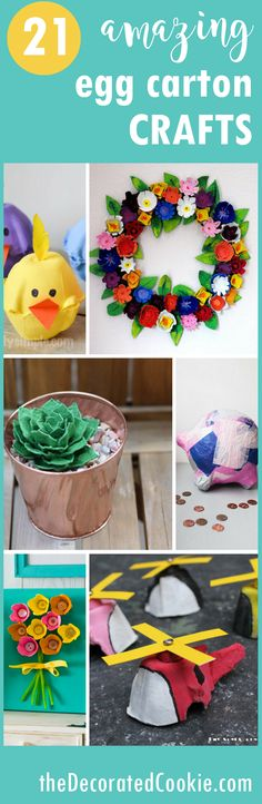 roundup of amazing egg carton crafts for kids and adults