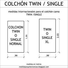 1000 images about dimensiones on pinterest google for Cama full medidas
