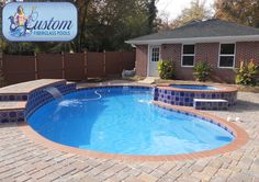 "Monterey : 16'x33' Awesome Pools is located in Apison, Tennessee and builds beautiful fiberglass swimming pools, spas and tanning ledges from Custom Fiberglass Pools. We service South Eastern Tennessee and North Western Georgia.  For more information on how you can have your own ""Awesome"" backyard, give us a call at (423) 615-9554, email us at info@awesomepoolsspas.com or visit www.awesomepoolsspas.com"