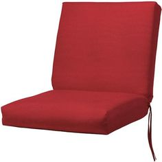 Bullnose Seat  back Outdoor Chair Cushion 2Hx19Wx36D RED SUNBRELLA * Click the VISIT button to view the swimwear details
