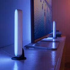 Indirect Lighting, Bar Lighting, Philips Hue Lampe, Dream Desk, Luminous Colours, Desk Setup, Home Room Design, Led Lampe, Play