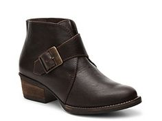 MAS Artisan Moki Bootie leather brown, black 1.5h sz7.5 89.95