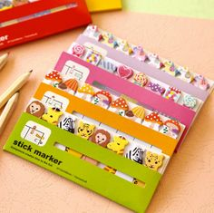 You can use this cute stickers as memo, post-it or bookmarks.    5 cute styles to choose~