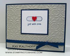 This would be so cute with different colors and no embossing! - Wellness Wishes SU