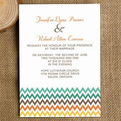 modern wedding invitations rainbow colors chevron EWI284 as low as $0.94
