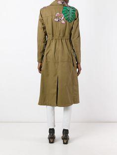 Valentino пальто с нашивками