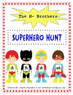 """superhero hunt. can be modified for homework. Hunt your house for """"Th"""" items. write them down. also, this blog has some more ideas."""