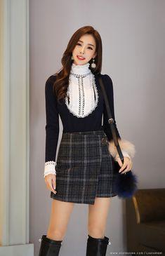 Work korean fashion ad# 390 korean outfits and styles од Korean Fashion Work, Korean Fashion Winter, Korean Fashion Trends, Asian Fashion, Korean Style, Skirt Outfits, Cute Outfits, Vestidos Sexy, Estilo Fashion